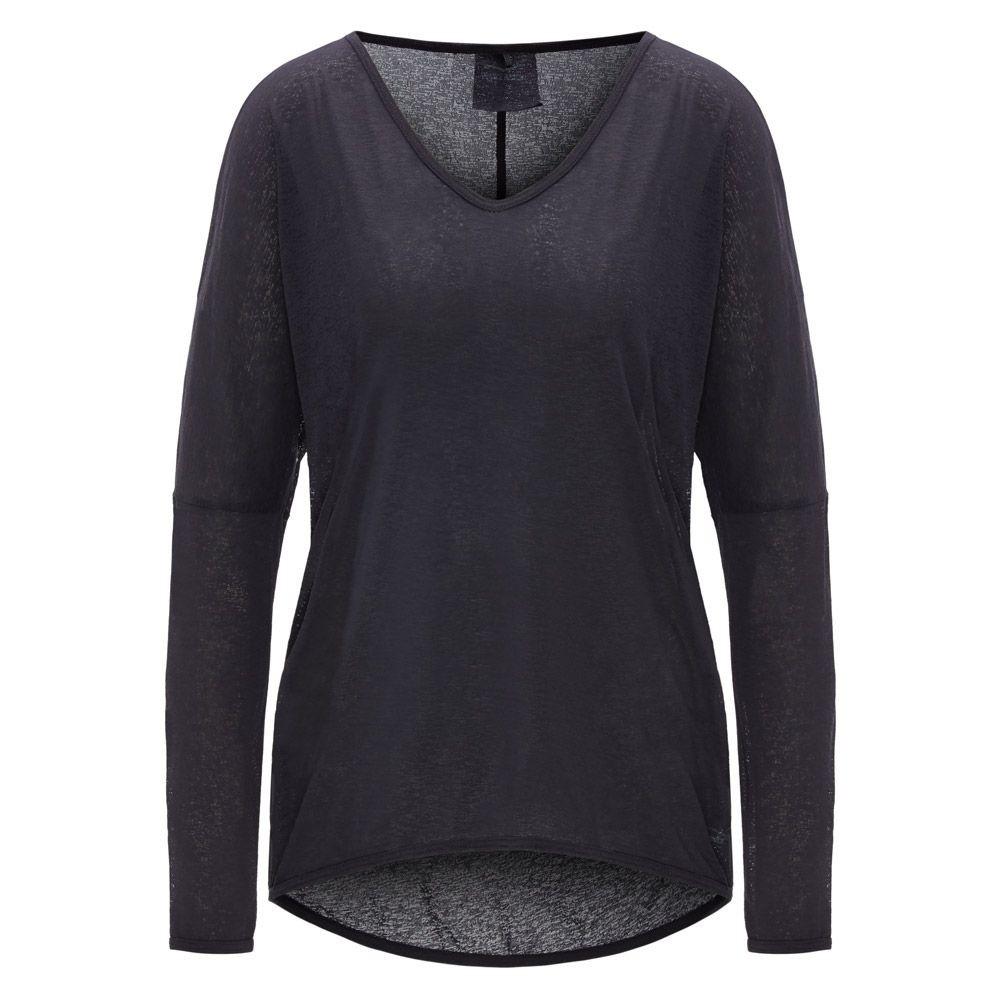 Dámské triko Elina volné průhledné s dlouhým rukávem šedé b78badc8cc