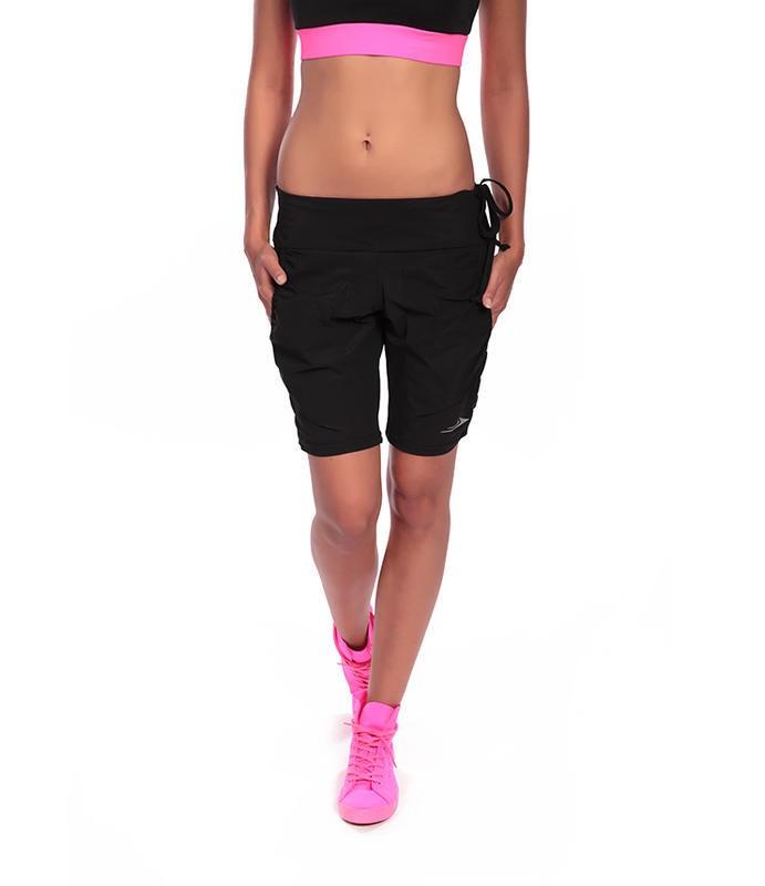 0dc98e052e3 Dámské sportovní elastické kraťasy nad kolena EG323 černé